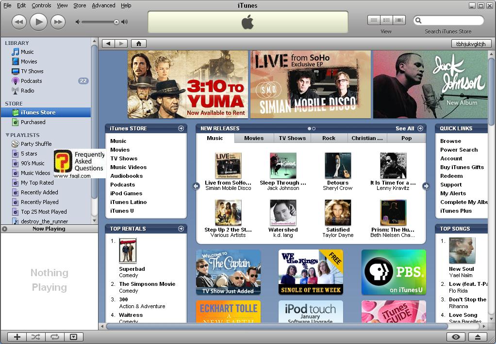 עמוד קנייה בחנות, iTunes
