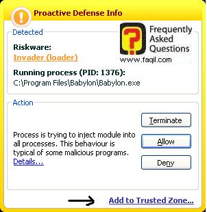 אישור תוכנה, קספרסקי (Kaspersky) גרסא 6.0
