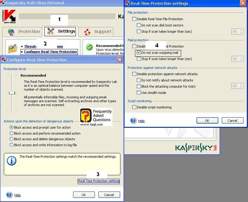 הגדרות, קספרסקי פרסונל -  Kaspersky Personal