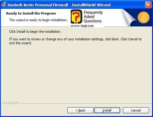 קרא לפני ההתקנה,חומת האש Kerio Personal Firewall