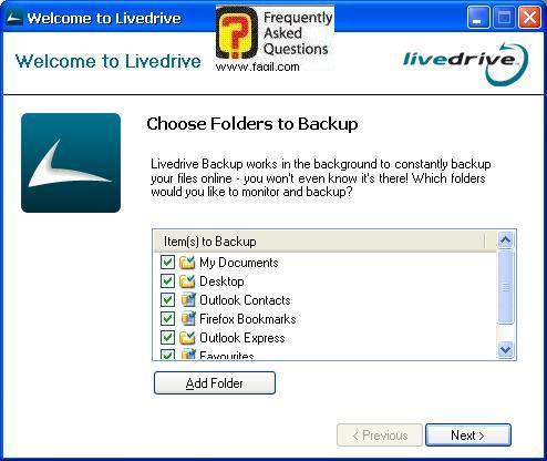 מה תרצו לגבות, תוכנת LiveDrive