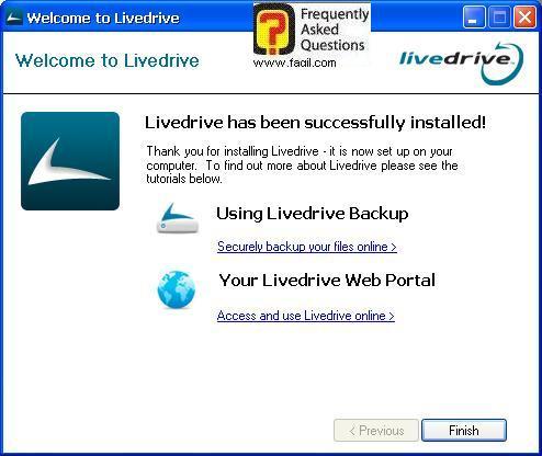 ברוכים הבאים לתוכנה, תוכנת LiveDrive