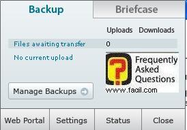 בחרו בManage Backup לגיבוי, תוכנת LiveDrive