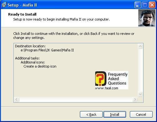 מסך קרא לפני ההתקנה,מאפיה 2 (Mafia ii)