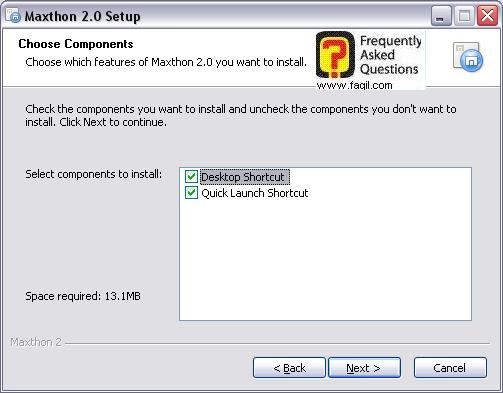 הוספת קיצור דרך לדפדפן על שולחן העבודה,דפדפן מקסטון (Maxthon)