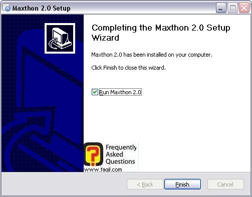 ההתקנה הסתיימה,דפדפן מקסטון (Maxthon)