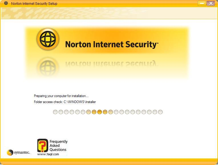 ההתקנה תחל ,Norton Internet Security 2007