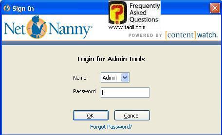 הקישו את הסיסמא שהגדרתם בתחילת ההתקנה,תוכנת Net Nanny