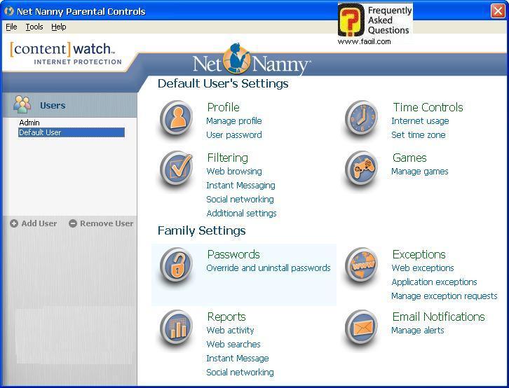מסך ראשי, תוכנת Net Nanny