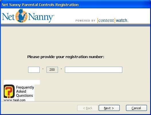 הקשת קוד הרישיון, תוכנת Net Nanny