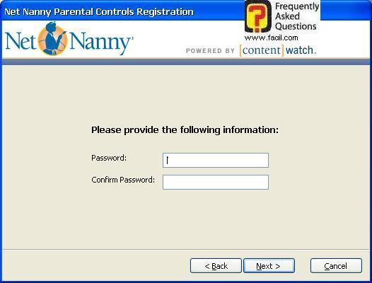 הקשת סיסמא וחזרה עליה, תוכנת Net Nanny