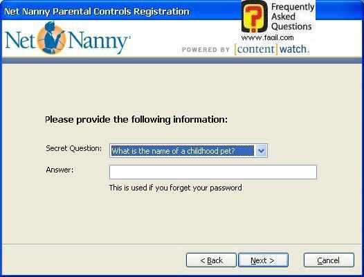 בחרו שאלה ותשובה, תוכנת Net Nanny