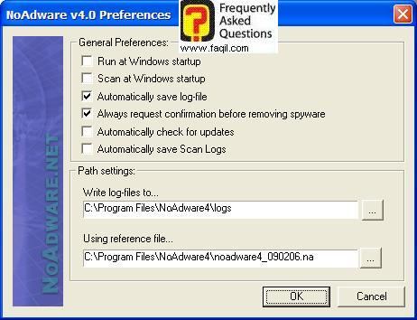 הגדרות עדכון תוכנה,NoAdware 4.0