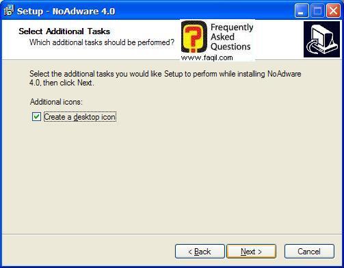 מסך יצירת אייקון   להתקנה,NoAdware 4.0