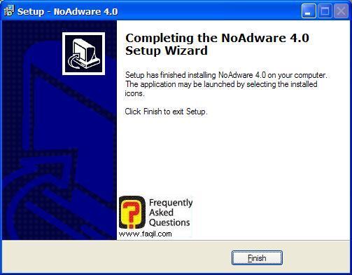 סיום ההתקנה,NoAdware 4.0