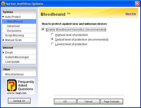 השאירו את ההגדרות כפי שהן,האנטיוירוס נורטון 2005|Norton Anti Virus 2005