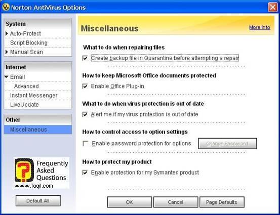 אפשרויות  בדיקה ,האנטיוירוס נורטון 2005|Norton Anti Virus 2005