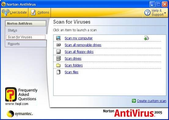 לוגים ,האנטיוירוס נורטון 2005|Norton Anti Virus 2005