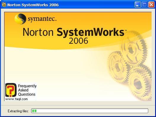 מסך טעינת ההתקנה יחל, Norton SystemWorks 2006