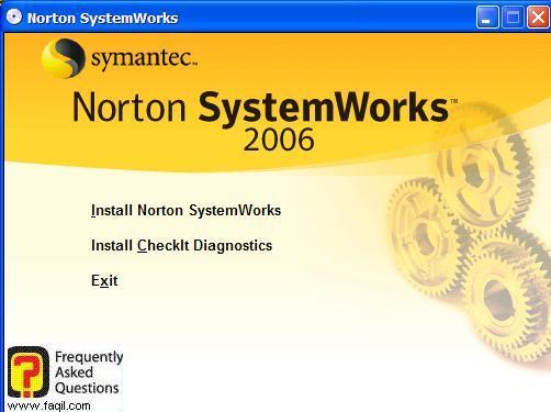 מסך בחירת ההתקנה, Norton SystemWorks 2006