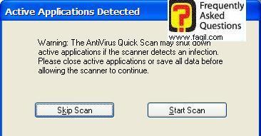 מסך סריקה של האנטיוירוס, Norton SystemWorks 2006