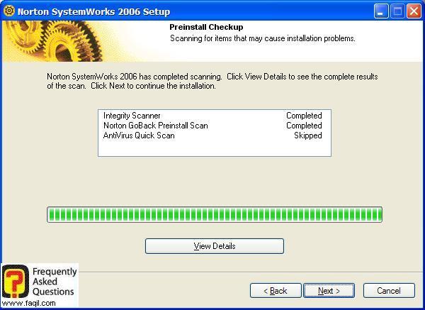 ההגדרות שנבחרו, Norton SystemWorks 2006