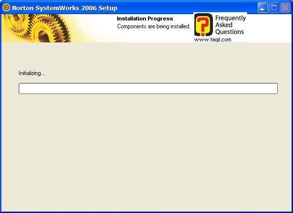 ההתקנה החלה, Norton SystemWorks 2006