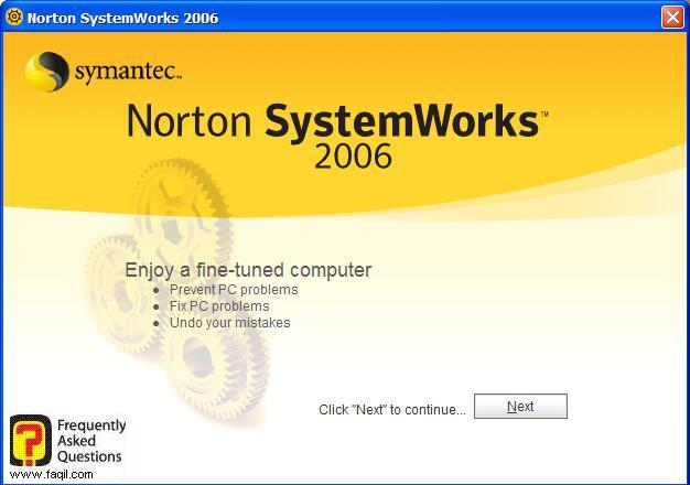 ברוך הבא לתוכנה, Norton SystemWorks 2006