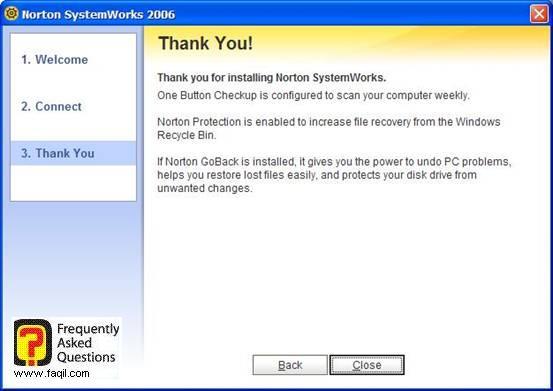 אם אתה מעוניין לניסיון , Norton SystemWorks 2006