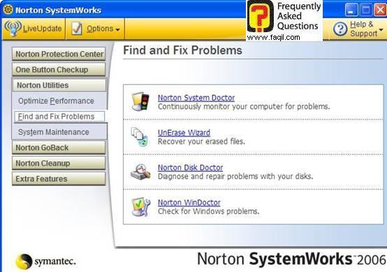 הגעה לNorton Disk Doctor , בNorton SystemWorks 2006