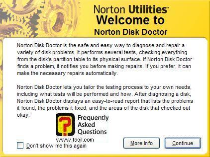 ברוך הבא לNorton Disk Doctor , בNorton SystemWorks 2006