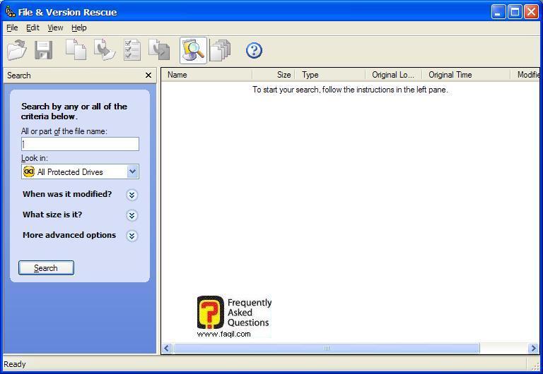 למצוא את הקובץ, ולשחזר למצב קודם , בNorton SystemWorks 2006