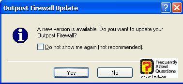 כדי לבדוק עדכונים, Outpost Firewall