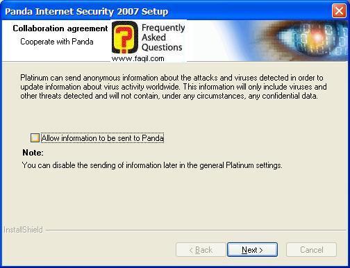 ההתקנה הסתיימה,Panda Internet Security 2007