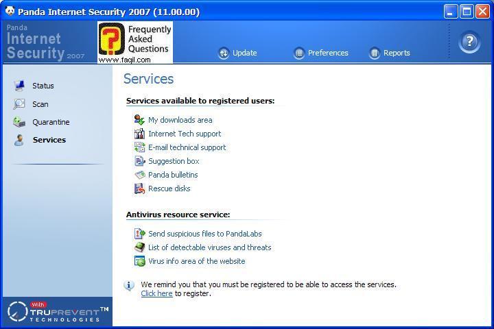 חזרה למסך הראשי,Panda Internet Security 2007