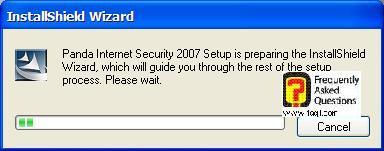 טוען את פתיחת ההתקנה, Panda Internet Security 2007