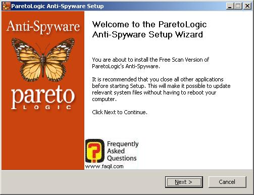 מסך ברוכים הבאים להתקנה, parelogic-anti spyware