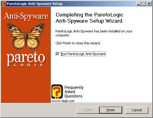 סיום ההתקנה, parelogic-anti spyware