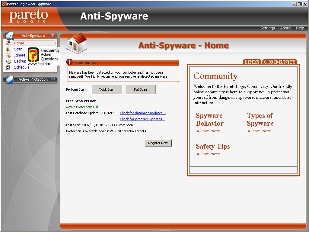 מסך בית, parelogic-anti spyware
