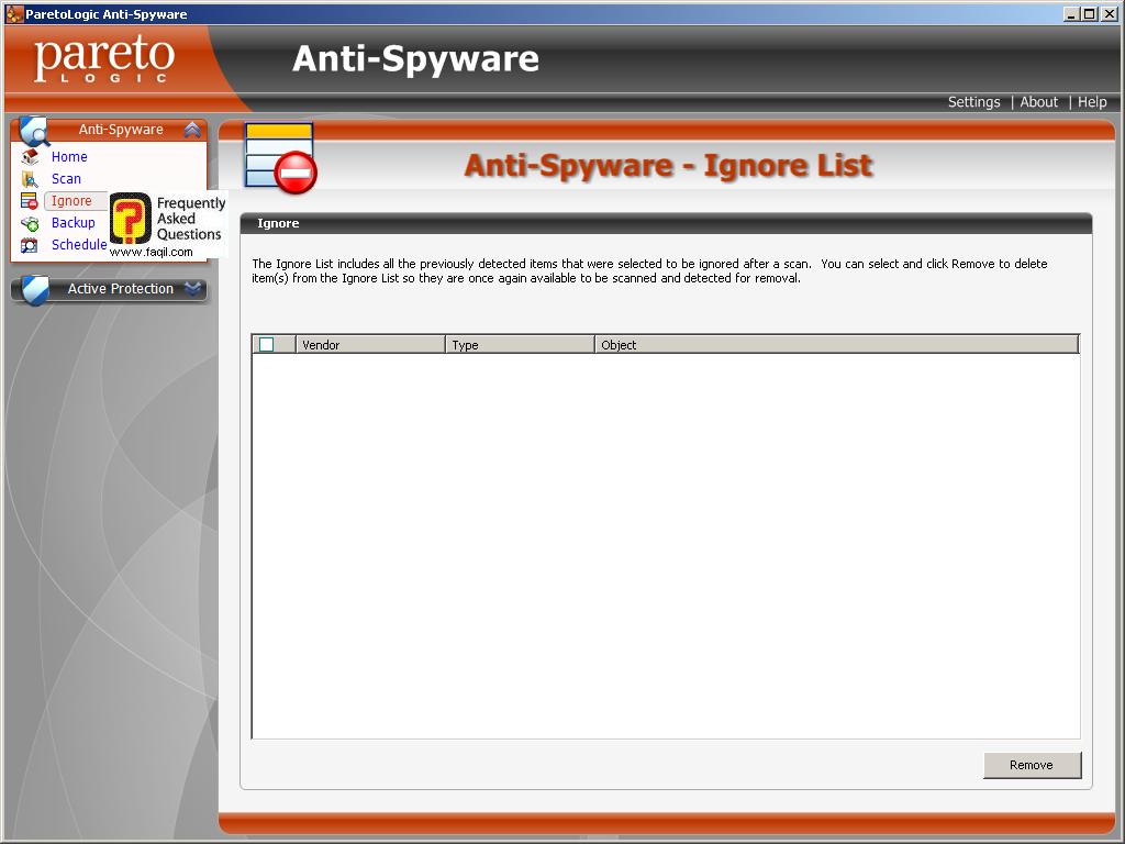 רשימת התעלם, parelogic-anti spyware
