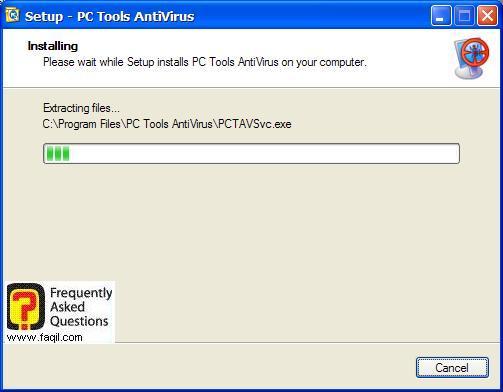 ההתקנה החלה,תוכנת  PC Tools AntiVirus