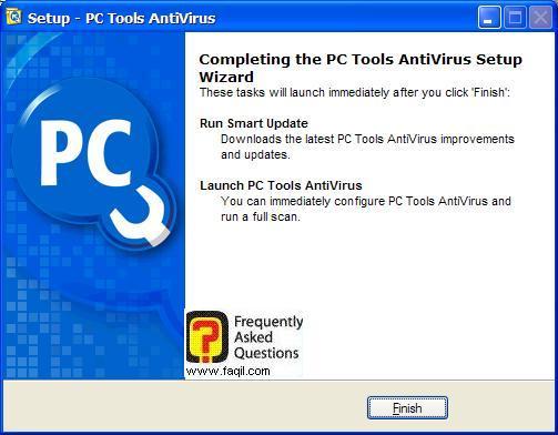 ההתקנה הסתיימה,תוכנת  PC Tools AntiVirus