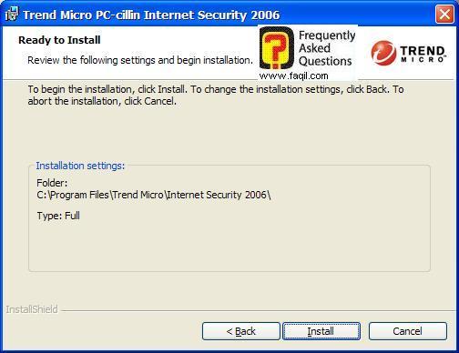 מסך קרא לפני ההתקנה, PC cillin