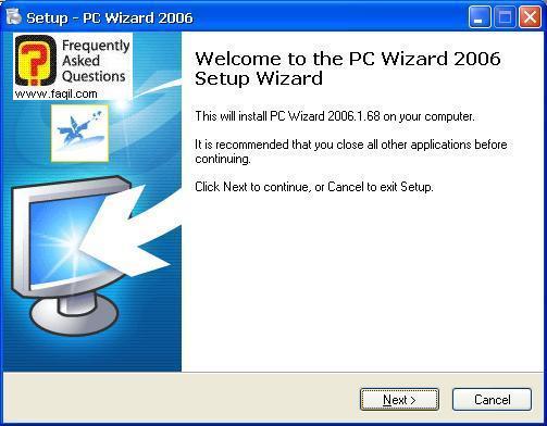 מסך ברוכים להתקנה, Pc Wizard