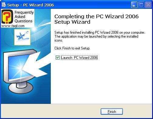 ההתקנה הסתיימה, Pc Wizard