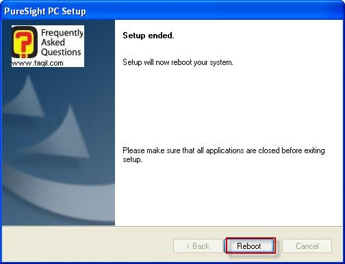 הפעלה מחדש של המחשב,תוכנת PureSight