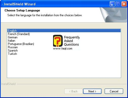 בחירת שפת התקנה,תוכנת PureSight