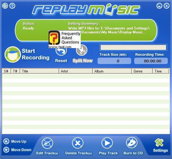מסך ראשי, תוכנת Replay Music