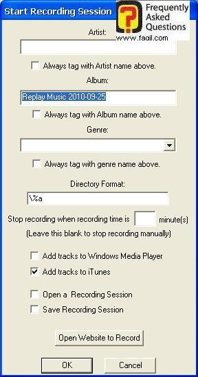 הגדרות אלבום שלכם, תוכנת Replay Music