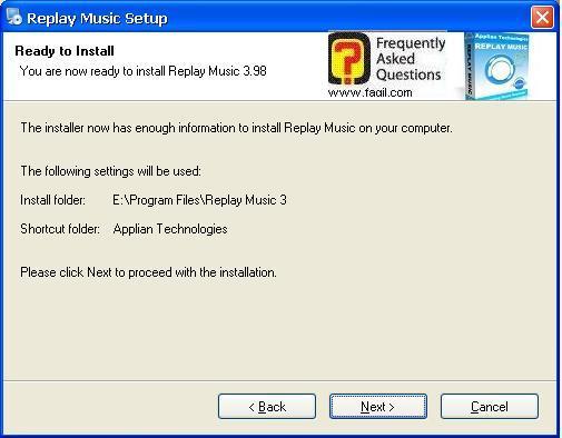 מה יותקן ואיפה, תוכנת Replay Music